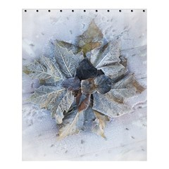 Winter Frost Ice Sheet Leaves Shower Curtain 60  X 72  (medium)  by Celenk