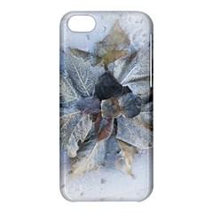Winter Frost Ice Sheet Leaves Apple Iphone 5c Hardshell Case by Celenk