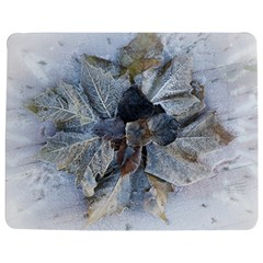 Winter Frost Ice Sheet Leaves Jigsaw Puzzle Photo Stand (rectangular) by Celenk