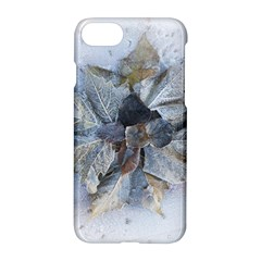 Winter Frost Ice Sheet Leaves Apple Iphone 7 Hardshell Case by Celenk