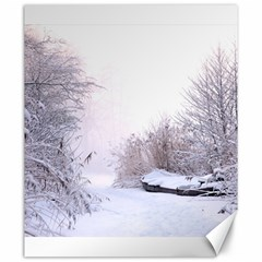Winter Snow Ice Freezing Frozen Canvas 20  X 24   by Celenk