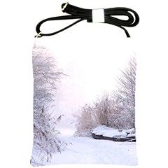 Winter Snow Ice Freezing Frozen Shoulder Sling Bags by Celenk