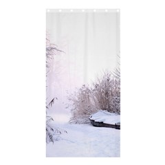 Winter Snow Ice Freezing Frozen Shower Curtain 36  X 72  (stall)  by Celenk