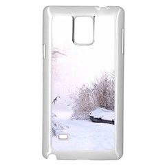 Winter Snow Ice Freezing Frozen Samsung Galaxy Note 4 Case (white) by Celenk