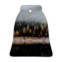 Trees Plants Nature Forests Lake Ornament (bell)