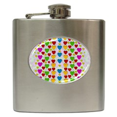 So Sweet And Hearty As Love Can Be Hip Flask (6 Oz) by pepitasart