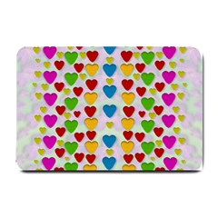 So Sweet And Hearty As Love Can Be Small Doormat  by pepitasart