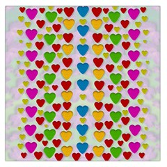 So Sweet And Hearty As Love Can Be Large Satin Scarf (square) by pepitasart