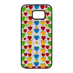 So Sweet And Hearty As Love Can Be Samsung Galaxy S7 Edge Black Seamless Case by pepitasart