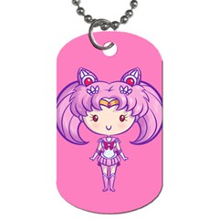 Cutie Chibimoon/saturn Dog Tag (two Sided)  by Ellador