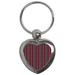 Native American Pattern 23 Key Chains (heart)  by Cveti
