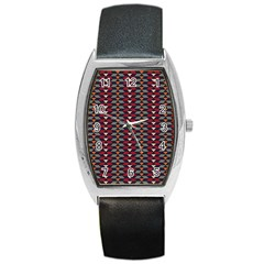 Native American Pattern 23 Barrel Style Metal Watch by Cveti