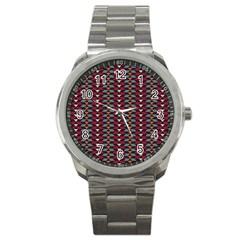 Native American Pattern 23 Sport Metal Watch by Cveti