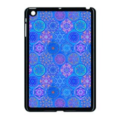 Geometric Hand Drawing Pattern Blue  Apple Ipad Mini Case (black) by Cveti
