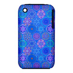 Geometric Hand Drawing Pattern Blue  Iphone 3s/3gs by Cveti