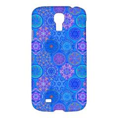 Geometric Hand Drawing Pattern Blue  Samsung Galaxy S4 I9500/i9505 Hardshell Case by Cveti