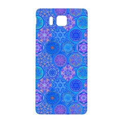 Geometric Hand Drawing Pattern Blue  Samsung Galaxy Alpha Hardshell Back Case by Cveti