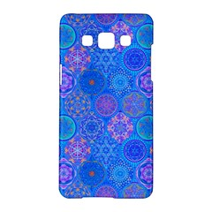 Geometric Hand Drawing Pattern Blue  Samsung Galaxy A5 Hardshell Case  by Cveti