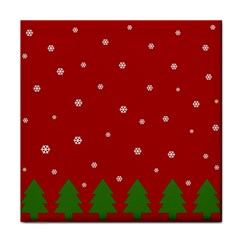 Christmas Pattern Tile Coasters by Valentinaart