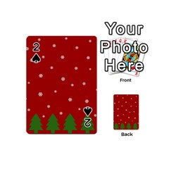 Christmas Pattern Playing Cards 54 (mini)  by Valentinaart