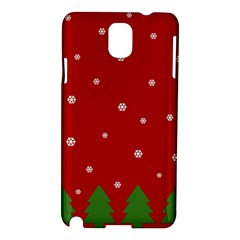 Christmas Pattern Samsung Galaxy Note 3 N9005 Hardshell Case by Valentinaart