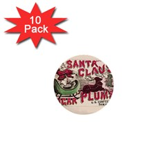 Vintage Santa Claus  1  Mini Buttons (10 Pack)  by Valentinaart