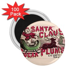 Vintage Santa Claus  2 25  Magnets (100 Pack)  by Valentinaart