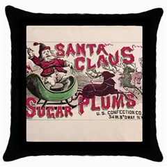 Vintage Santa Claus  Throw Pillow Case (black) by Valentinaart
