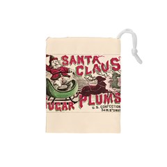 Vintage Santa Claus  Drawstring Pouches (small)  by Valentinaart