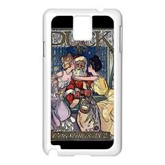 Vintage Santa Claus  Samsung Galaxy Note 3 N9005 Case (white) by Valentinaart