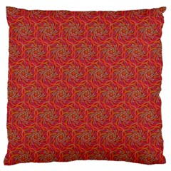 Whirligig Pattern Hand Drawing Orange 01 Large Cushion Case (two Sides) by Cveti