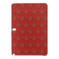 Whirligig Pattern Hand Drawing Orange 01 Samsung Galaxy Tab Pro 10 1 Hardshell Case by Cveti