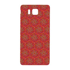 Whirligig Pattern Hand Drawing Orange 01 Samsung Galaxy Alpha Hardshell Back Case by Cveti