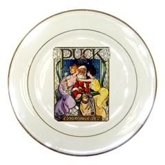 Vintage Santa Claus  Porcelain Plates by Valentinaart