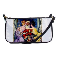 Vintage Santa Claus  Shoulder Clutch Bags by Valentinaart