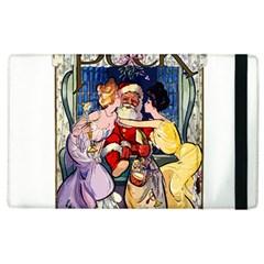 Vintage Santa Claus  Apple Ipad 2 Flip Case by Valentinaart