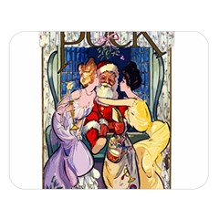 Vintage Santa Claus  Double Sided Flano Blanket (large)  by Valentinaart