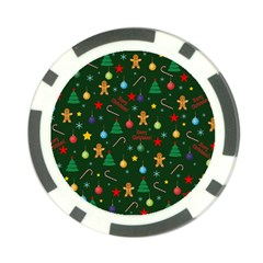 Christmas Pattern Poker Chip Card Guard by Valentinaart