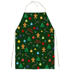 Christmas Pattern Full Print Aprons by Valentinaart