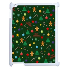 Christmas Pattern Apple Ipad 2 Case (white) by Valentinaart
