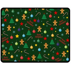Christmas Pattern Double Sided Fleece Blanket (medium)  by Valentinaart