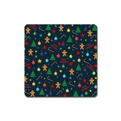 Christmas Pattern Square Magnet by Valentinaart