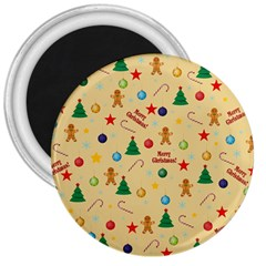 Christmas Pattern 3  Magnets by Valentinaart