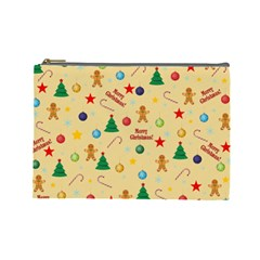 Christmas Pattern Cosmetic Bag (large)  by Valentinaart
