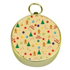 Christmas Pattern Gold Compasses by Valentinaart