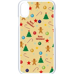 Christmas Pattern Apple Iphone X Seamless Case (white) by Valentinaart