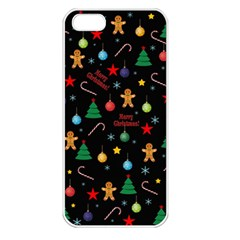 Christmas Pattern Apple Iphone 5 Seamless Case (white) by Valentinaart