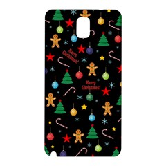 Christmas Pattern Samsung Galaxy Note 3 N9005 Hardshell Back Case by Valentinaart