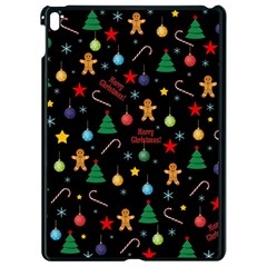 Christmas Pattern Apple Ipad Pro 9 7   Black Seamless Case by Valentinaart