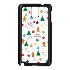 Christmas Pattern Samsung Galaxy Note 3 N9005 Case (black) by Valentinaart
